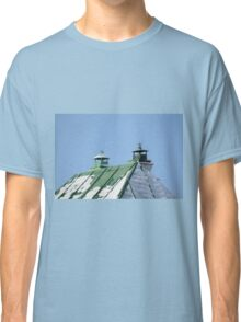 green tin roof with two pipes Classic T-Shirt