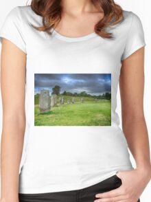 Avebury Stone Circle Women's Fitted Scoop T-Shirt