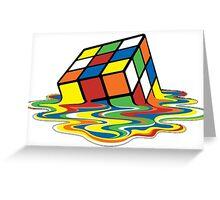 Melting Rubix Cube | 2016 Greeting Card