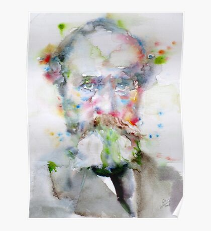 WILLIAM JAMES - watercolor portrait Poster