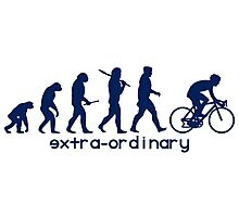 Cycling Evolution blue Photographic Print