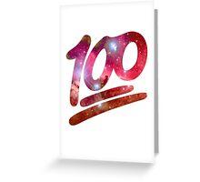 100 emoji nebula Greeting Card