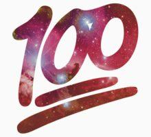100 emoji nebula One Piece - Short Sleeve