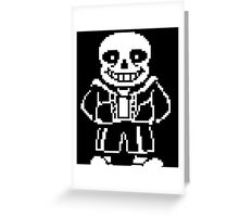 Undertale Sans Greeting Card