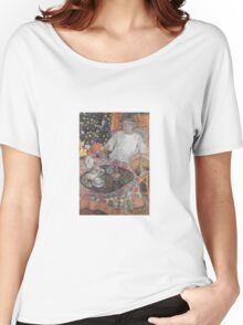 Leon De Smet - A Girl By The Table  Women's Relaxed Fit T-Shirt