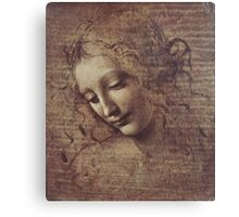 Leonardo Da Vinci - Head Of A Young Woman With Tousled Hair Or Leda Canvas Print