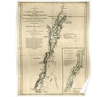 American Revolutionary War Era Maps 1750-1786 275 A survey of Lake Champlain including Lake George Crown Point and St John Poster