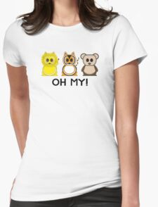 Lions & Tigers & Bears - Oh My! Womens Fitted T-Shirt