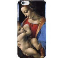 Leonardo Da Vinci - Madonna Litta Madonna And The Child iPhone Case/Skin