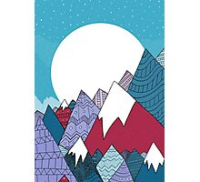 Blue sky mountains Photographic Print