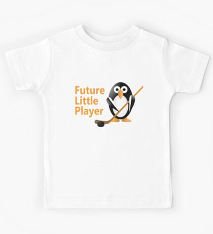 Penguin with a hokey stick Kids Tee