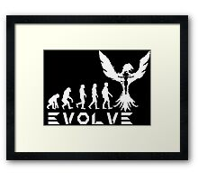 Evolution of X-Man - Phoenix Framed Print
