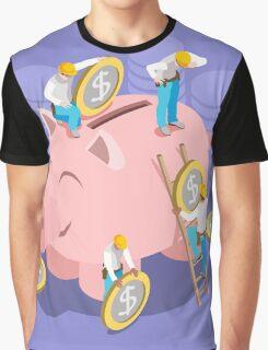 Saving Money Concept Graphic T-Shirt