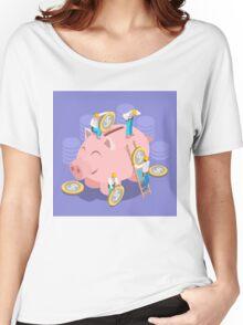 Saving Money Concept Women's Relaxed Fit T-Shirt