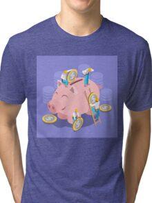 Saving Money Concept Tri-blend T-Shirt