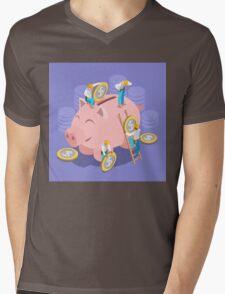 Saving Money Concept Mens V-Neck T-Shirt