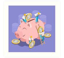 Saving Money Concept Art Print