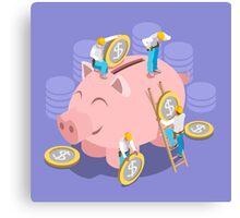 Saving Money Concept Canvas Print