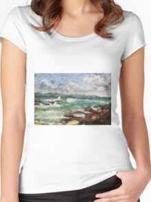 Spoonies Bay, Bonny Hills Women's Fitted Scoop T-Shirt