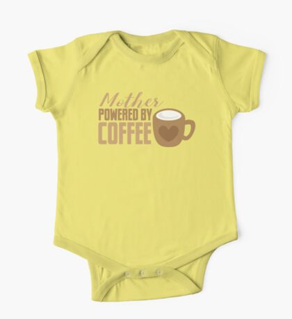 Mother Powered by COFFEE One Piece - Short Sleeve