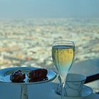 United Arab Emirates. Dubai. Burj Al Arab. Skyview Bar. Glass of Champagne. by vadim19
