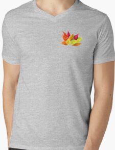 Lotus Love (Green) Mens V-Neck T-Shirt