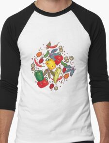 Hot & spicy! Men's Baseball ¾ T-Shirt
