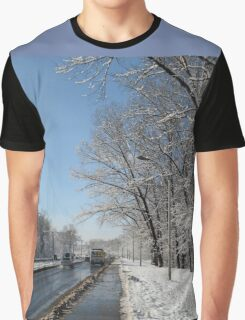 winter road, Siberia, Russia Graphic T-Shirt