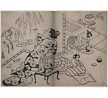 Kiyonobu Torii - Courtesan Painting a Screen - Circa 1710 - Woodcut Photographic Print