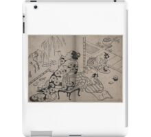 Kiyonobu Torii - Courtesan Painting a Screen - Circa 1710 - Woodcut iPad Case/Skin