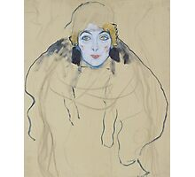 Klimt - Head Of A Woman Photographic Print
