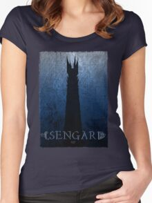 Isengard Poster Women's Fitted Scoop T-Shirt