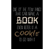 Books and Cookies Photographic Print