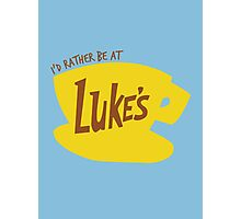 I'd rather be at Luke's - Gilmore Girls Photographic Print