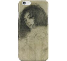 Gustav Klimt  - Portrait Of A Young Woman iPhone Case/Skin