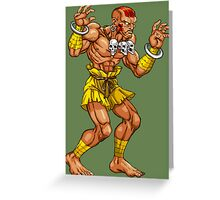 Dhalsim - indian fighter Greeting Card