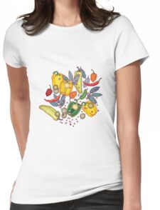 hot & spicy 2 Womens Fitted T-Shirt
