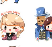 Assorted ace attorney stickers Sticker