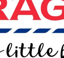 TRAGIC - Very little helps  Sticker