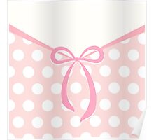 Cute bow with dots pattern Poster
