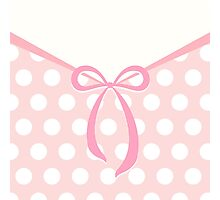 Cute bow with dots pattern Photographic Print