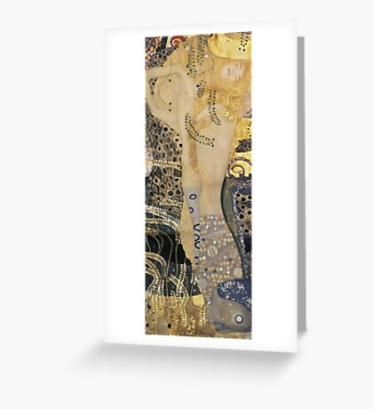 Gustav Klimt  - Water Serpents Greeting Card
