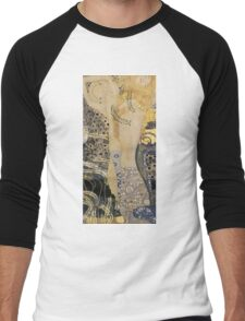 Gustav Klimt  - Water Serpents Men's Baseball ¾ T-Shirt