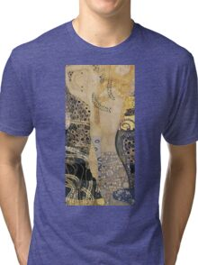 Gustav Klimt  - Water Serpents Tri-blend T-Shirt