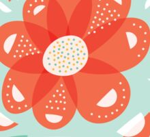 Whimsical Decorative Red Flower Sticker