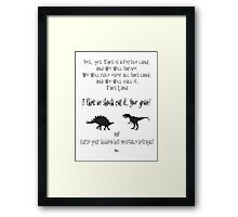 curse your sudden but inevitable betrayal, firefly, grey Framed Print