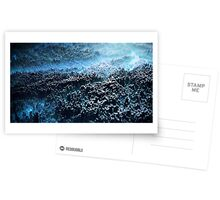 Abstract landscape blue Greeting Card