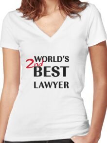 Better Call Saul - World's 2nd Best Lawyer Women's Fitted V-Neck T-Shirt