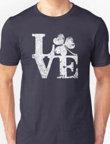 LOVE - Shamrock Distressed T-Shirt