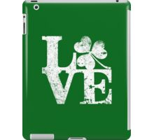LOVE - Shamrock Distressed iPad Case/Skin